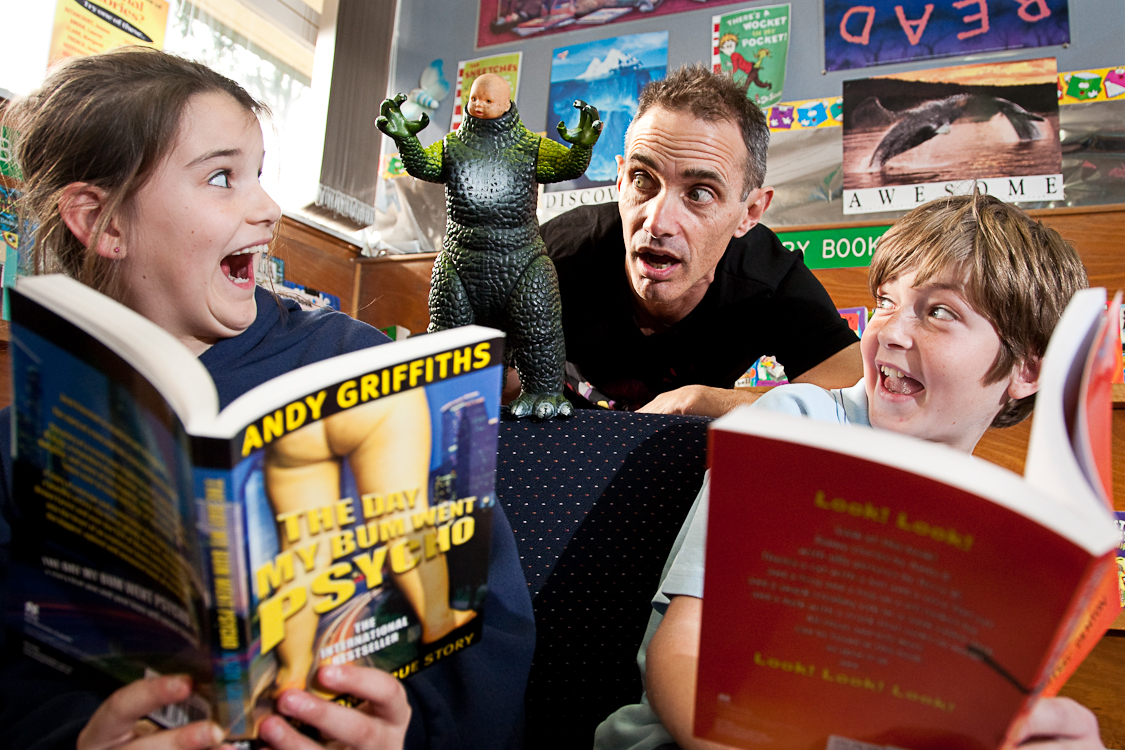 Andy Griffiths at Heathmont Primary School